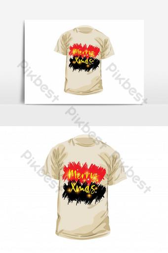 plantilla de diseño de camiseta colorida simple feliz navidad Elementos graficos Modelo EPS