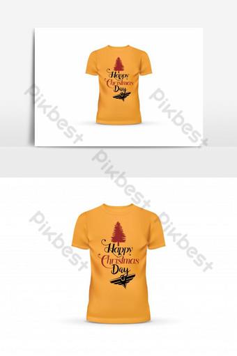plantilla de diseño de camiseta de feliz día de navidad Elementos graficos Modelo EPS