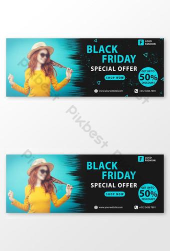 Couverture Facebook de l'offre spéciale Black Friday Modèle PSD