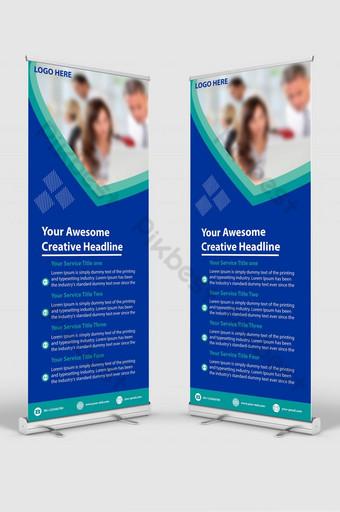 plantilla de diseño de banner de señalización enrollable corporativa empresarial creativa Modelo PSD