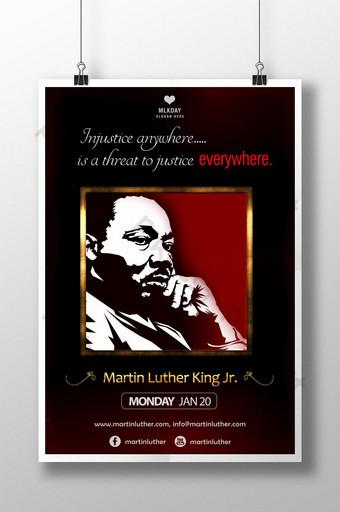 plantilla de póster psd de marco de injusticia de justicia mlk Modelo PSD