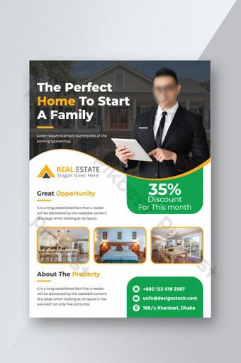 Modèle de conception de flyer immobilier maison pour les ventes Modèle AI