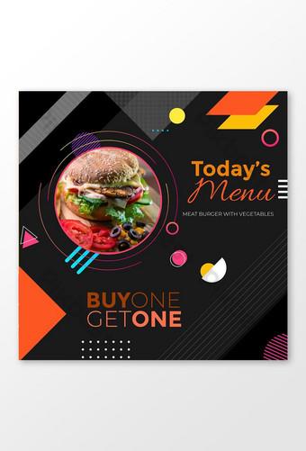 acheter un, obtenir un modèle de publication sur les médias sociaux de bannière alimentaire Modèle AI
