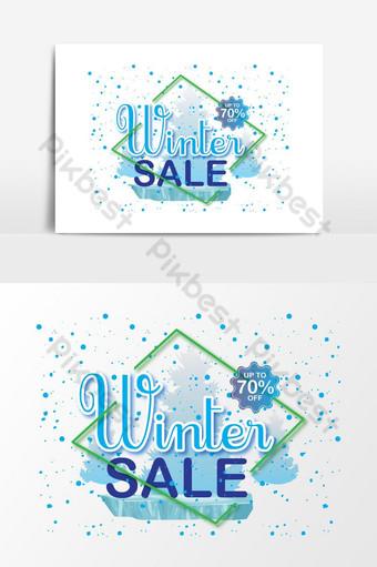 penjualan musim dingin spanduk diskon gambar vektor png promosi template Elemen Grafis Templat AI
