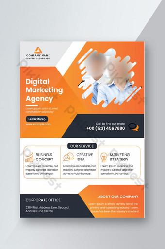 plantillas de diseño de folletos de negocios corporativos archivo ai agencia de marketing digital diseño de folletos Modelo AI