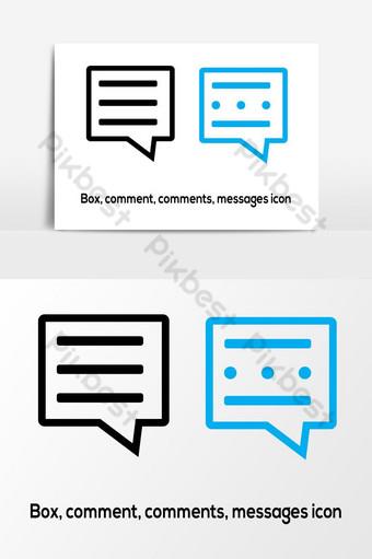 مربع التعليقات التعليقات رمز الرسائل صور PNG قالب AI