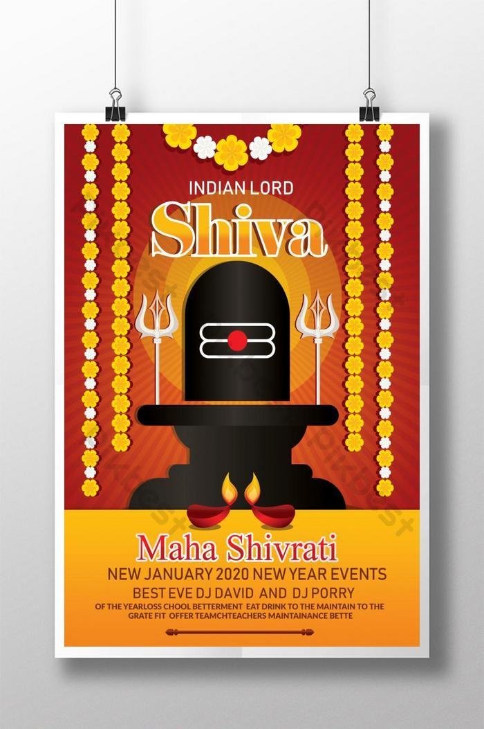Hindu Religion Shiva Poster Design Psd Free Download Pikbest