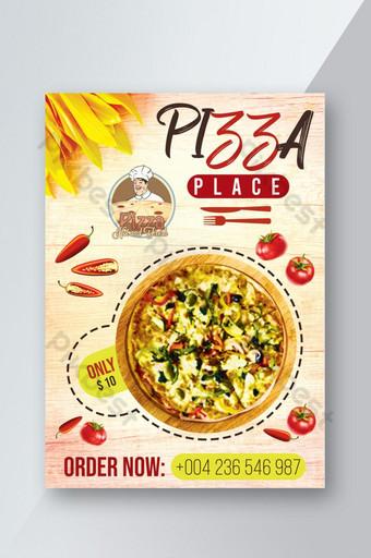 Pizza Restaurant Flyer Créatif Unique Modèle PSD