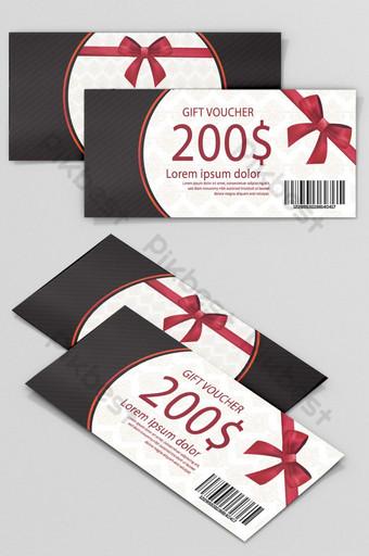 conception de modèle de bon cadeau modèle de bon cadeau élégant Coupon Modèle PSD