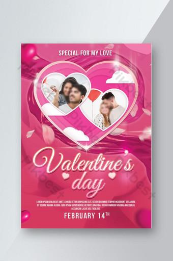 Maquette de photo de flyer de la Saint-Valentin Modèle PSD