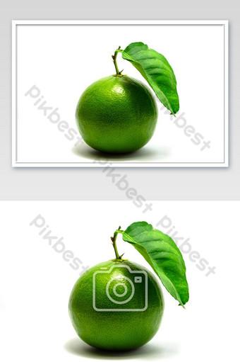 الجير الحمضيات، الليمون، الفاكهة الخضراء، عزل عزل، على أبيض، الخلفية التصوير قالب JPG