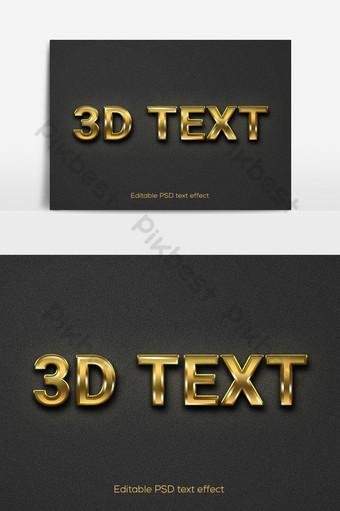 Elemento gráfico de vector de efecto de texto dorado 3d elementos gráficos plantilla psd Elementos graficos Modelo PSD