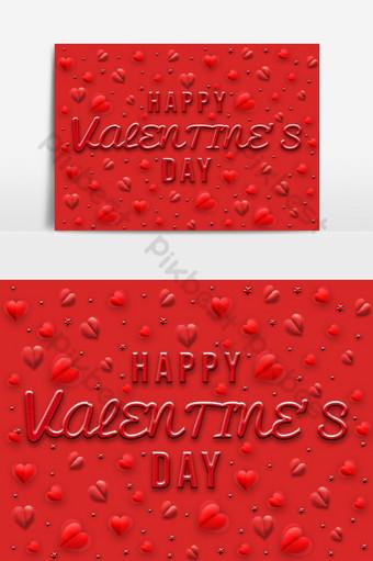amor, día de san valentín, inglés, fuente, y, fondo, diseño Elementos graficos Modelo PSD