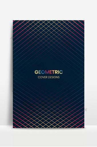 Modèle de conception de couverture minimale avec des lignes géométriques Fond Modèle EPS