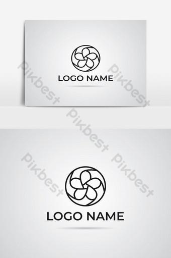 elemento gráfico decorativo logo blanco negro Elementos graficos Modelo AI