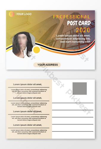 Creative Professional Brand nouveau design de carte postale pour le téléchargement gratuit d'entreprise Modèle AI