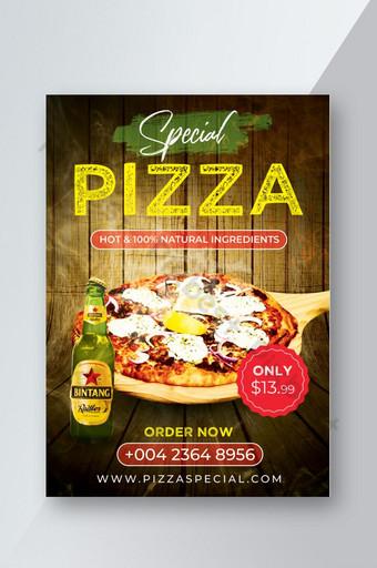 Flyer spécial pizza chaude Modèle PSD