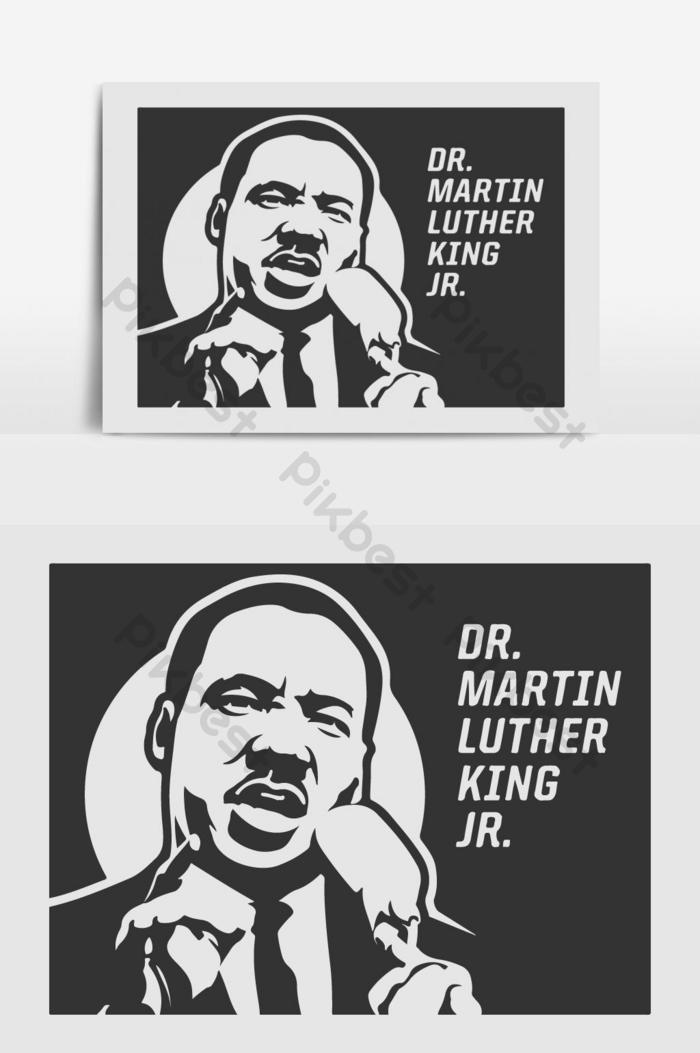 يوم الطبيب مارتن لوثر كينغ جونيور 2020 قالب تصميم الخلفية