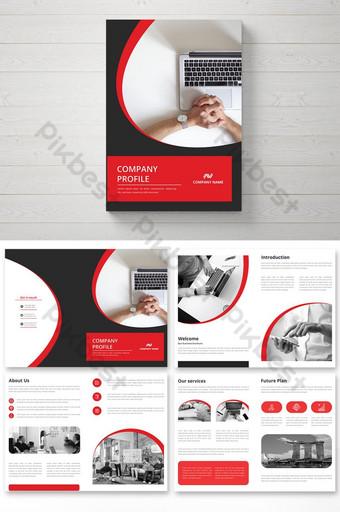 multi pages company brochure design and company profile Template AI