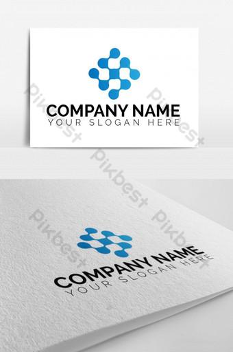 crypto software company logo design Template EPS