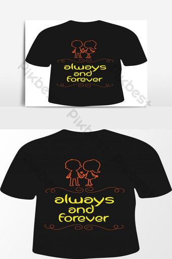 Plantillas de gráficos vectoriales de diseño de camisetas de amor Elementos graficos Modelo EPS