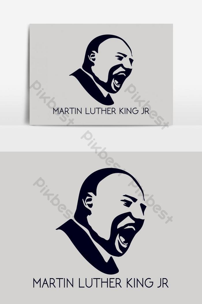 マーティンルーサーキングjr肖像ベクトルデザインテンプレート
