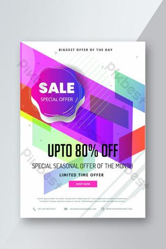 special seasonal mega Offer Social Media Post flyer Template AI