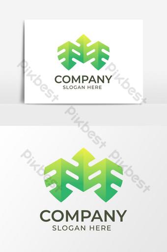 diseño de logotipo de hoja abstracta Elementos graficos Modelo AI
