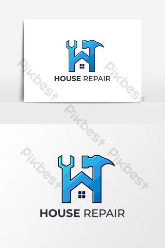 تصميم شعار إصلاح المنزل صور PNG قالب AI