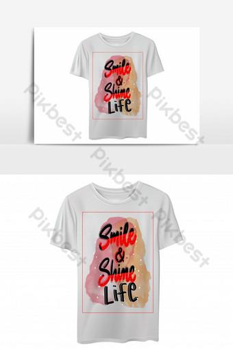 sonrisa y brillo vida plantilla de diseño de camiseta basada en texto Elementos graficos Modelo EPS