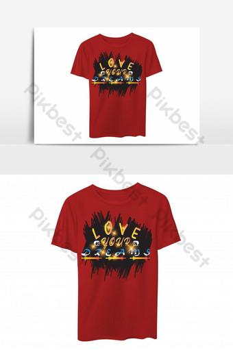 ama tus sueños plantilla de diseño de camiseta basada en texto Elementos graficos Modelo EPS