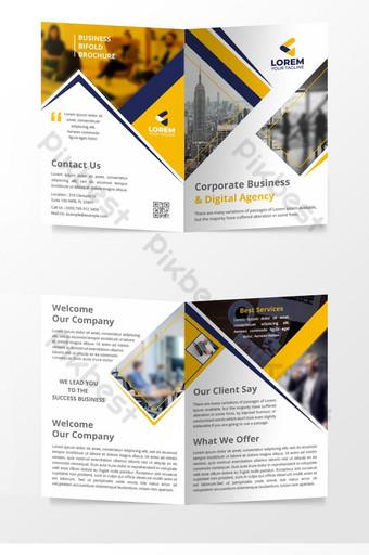 乾淨的眼睛上口專業公司雙向折疊宣傳冊設計業務模板 模板 AI