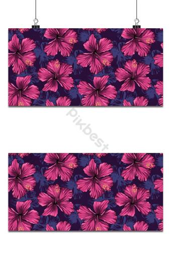 patrón sin costuras de flores de hibisco púrpura para el diseño del patrón de tela Fondos Modelo AI