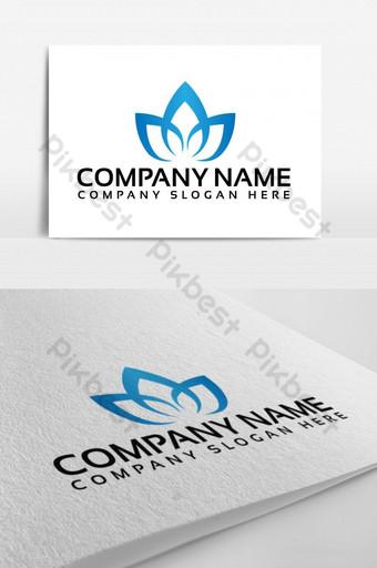 flor de loto elegante diseño de logotipo Modelo EPS