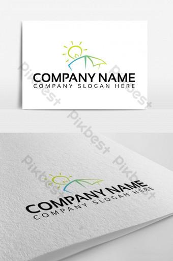 diseño de logotipo de caja de luz verde ecológica Modelo EPS