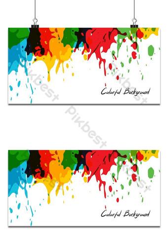 banner de fondo abstracto colorido Fondos Modelo AI