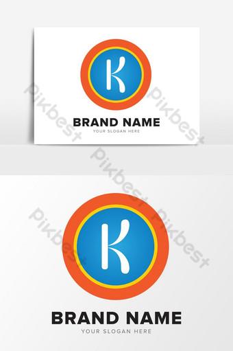 Letra k elementos gráficos de diseño de logotipo de empresa de agua abstracta inicial Elementos graficos Modelo EPS