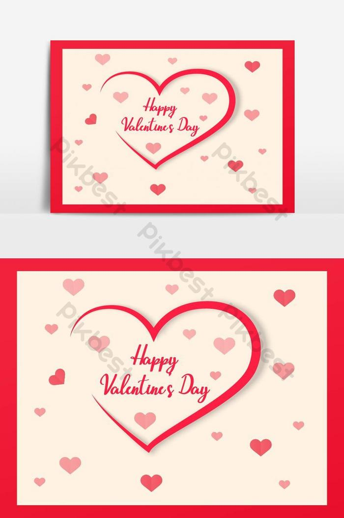 Template Ucapan Hari Valentine Romantis Elemen Grafis Templat Ai Unduhan Gratis Pikbest
