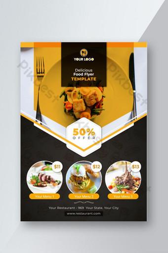 Modèle de conception de flyer de restaurant Modèle AI