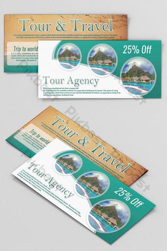 Tour Travel Vouchers/ Coupon Templates Template PSD
