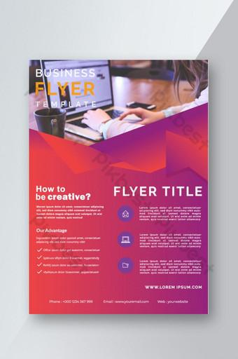 تصميم غلاف كتيب نشرة إعلانية للشركات قالب تصميم تخطيط صفحة واحدة قالب AI