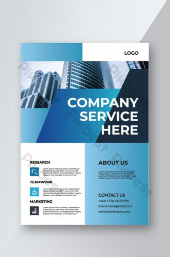 brosur perusahaan desain sampul satu desain tata letak halaman Templat AI