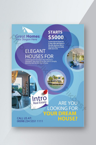 Real Estate Promotion & Introduction Flyer Template PSD
