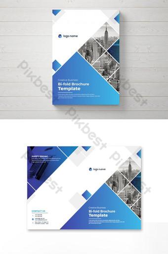 diseño creativo de folletos corporativos bi fold Modelo AI