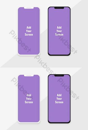 Modèle de maquette de téléphone avec variation sombre et claire Modèle PSD