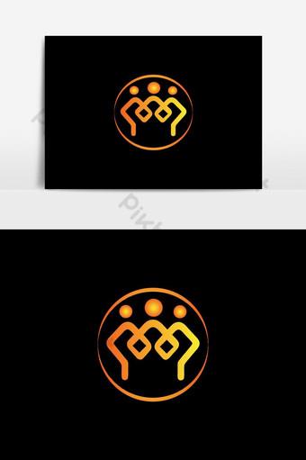 la gente conecta el diseño del vector del logotipo Elementos graficos Modelo EPS