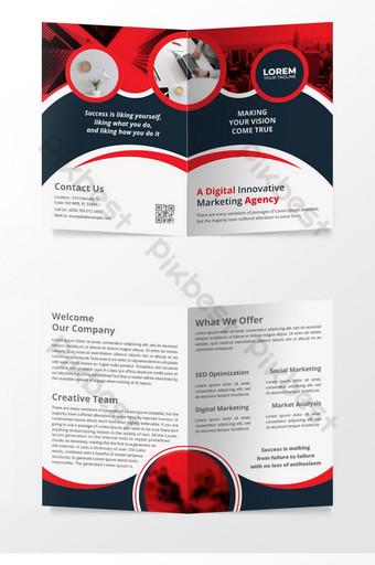 Modèle de conception de page de couverture de magazine de conception de brochure à deux volets Modèle AI