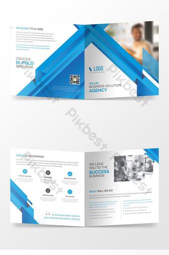 современная привлекательная, чистая и простая брошюра агентства корпоративных бизнес-решений шаблон AI
