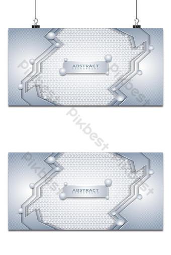 Fondo abstracto moderno hexágono blanco con cuentas de plata 3d Fondos Modelo AI