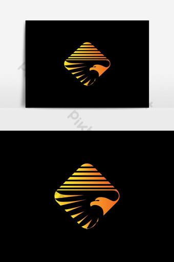 halcón, águila, pájaro, logotipo, vector, diseño Elementos graficos Modelo EPS